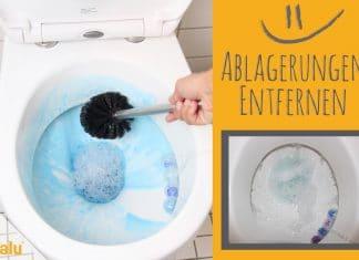 Ablagerungen in der Toilette entfernen, so wird Ihr Klo sauber