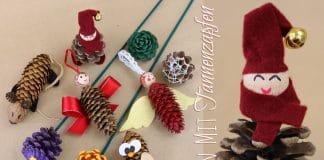 Basteln mit Tannenzapfen, 7 kreative Ideen für Kinder