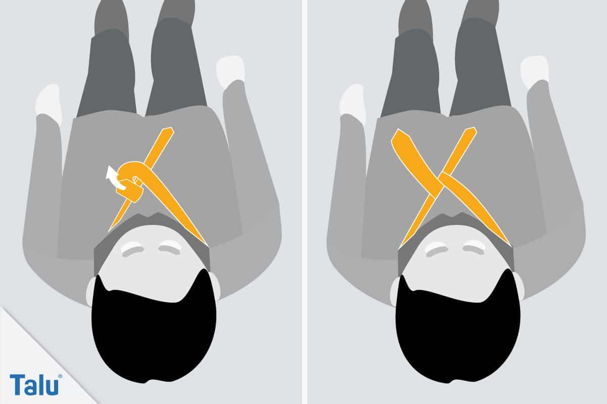Doppelter Windsor, Krawattenknoten binden, dritter Schritt