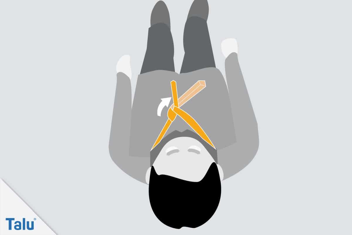 Doppelter Windsor, Krawattenknoten binden, vierter Schritt