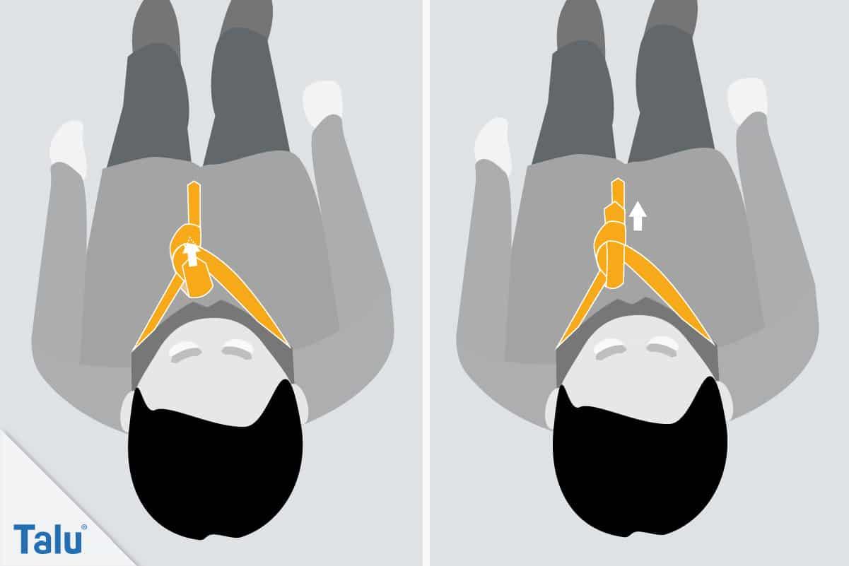 Doppelter Windsor, Krawattenknoten binden, siebter Schritt