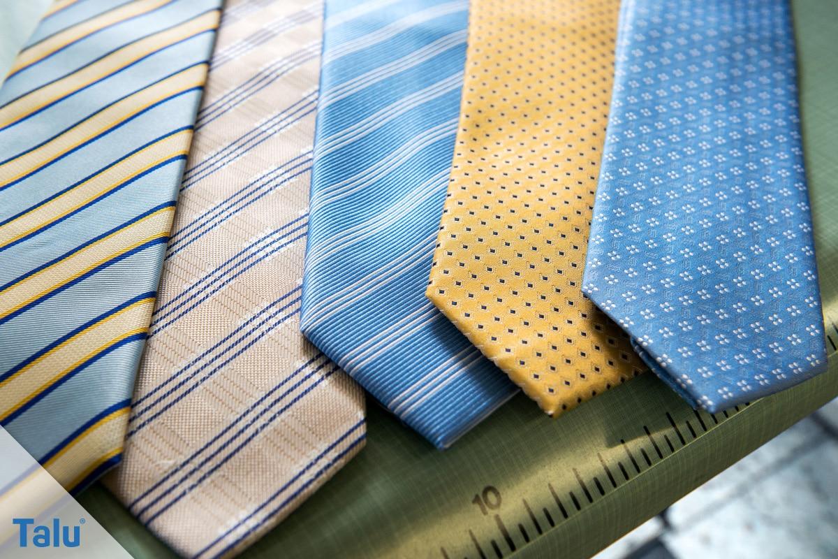 Doppelter Windsor, Krawattenknoten binden, Krawatten in verschiedenen Designs