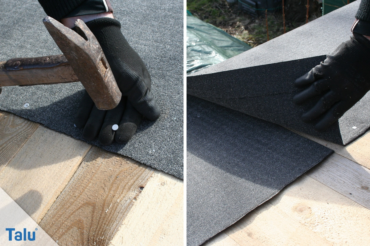 Flachdachsanierung selber machen, Flachdachabdichtung, Bitumenbahnen verlegen