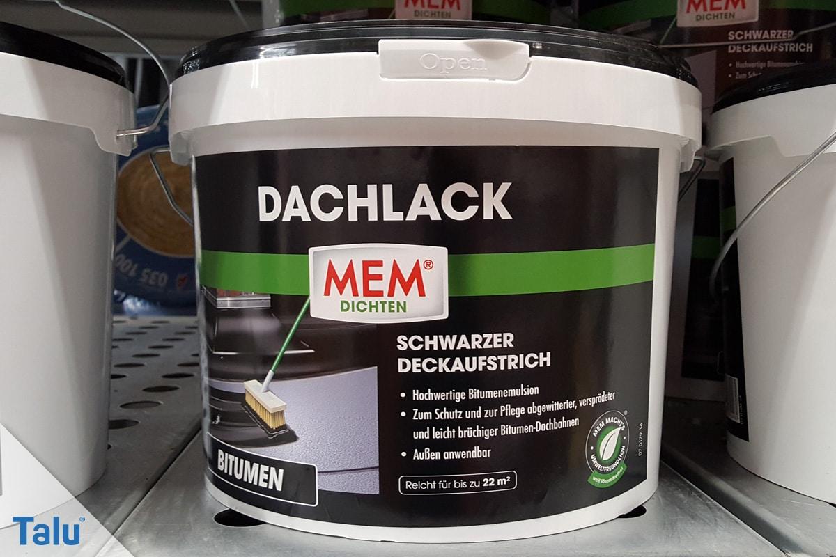 Flachdachsanierung selber machen, Flachdachabdichtung, Bitumen-Emulsion