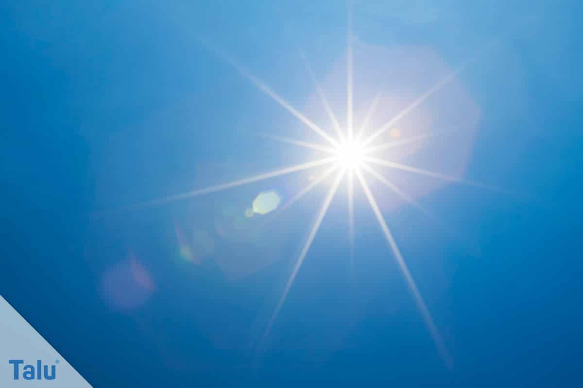 Flachdachsanierung selber machen, Flachdachabdichtung, UV-Strahlung, Sonne