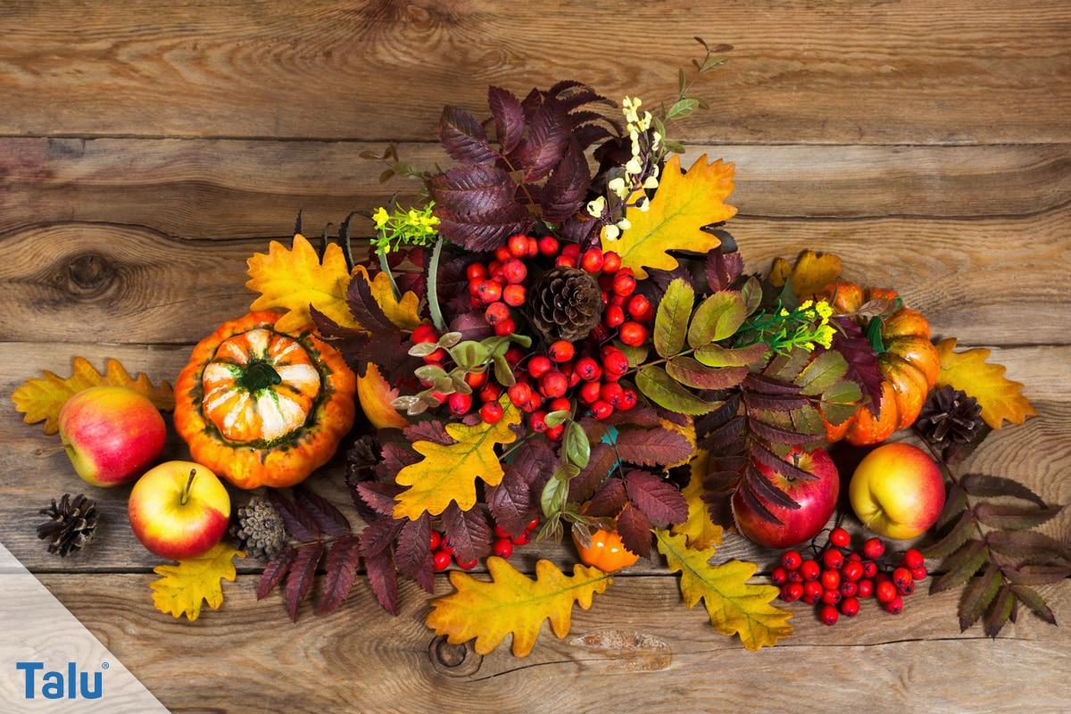 Herbstgestecke selber machen, Ideen, Materialien für Herbstgestecke