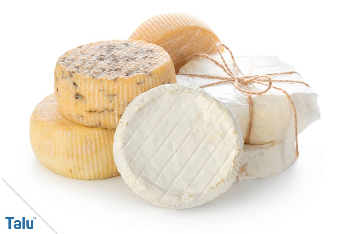 Käsegeruch in der Wohnung, verschiedene Käsesorten