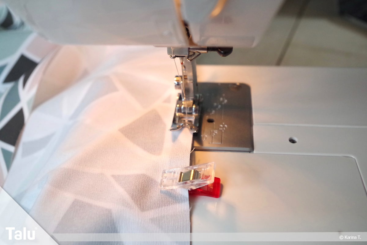 Origami Beutel nähen, Anleitung Origami-Wendetasche, Nähen