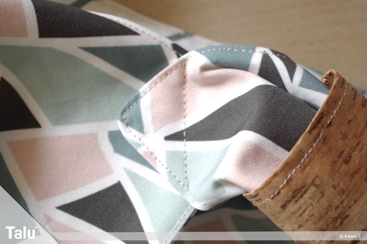 Origami Beutel nähen, Anleitung Origami-Wendetasche, neues Nähergebnis