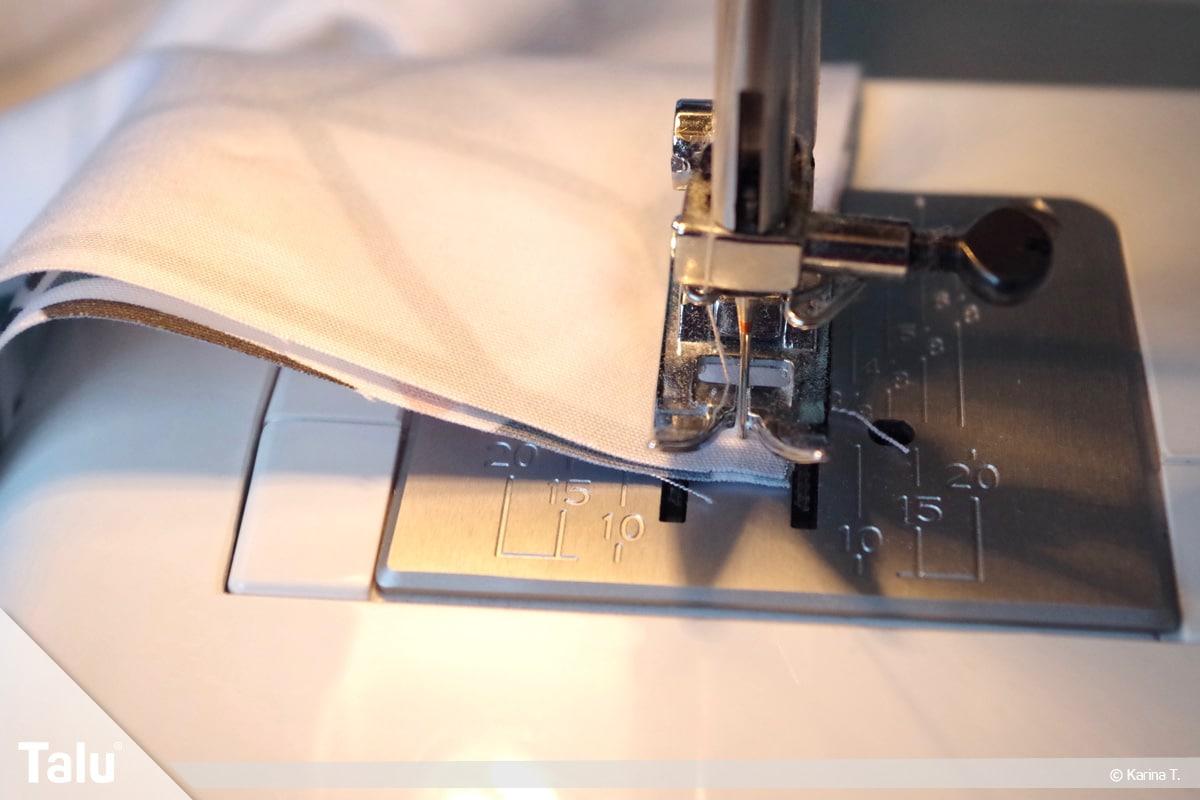 Origami Beutel nähen, Anleitung Origami-Wendetasche, Wendeöffnung freilassen