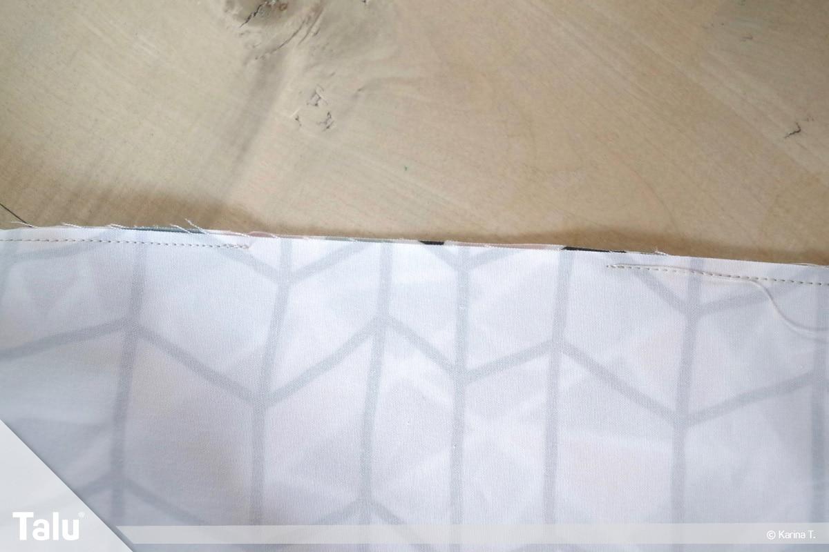 Origami Beutel nähen, Anleitung Origami-Wendetasche, Nähergebnis mit Wendeöffnung