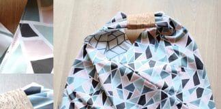 Origami Beutel nähen, Anleitung für Origami-Wendetasche