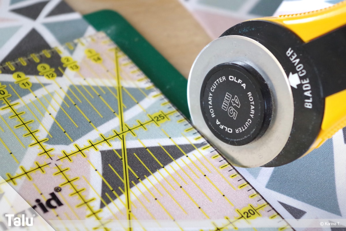 Origami Beutel nähen, Anleitung Origami-Wendetasche, Stoffteile zuschneiden