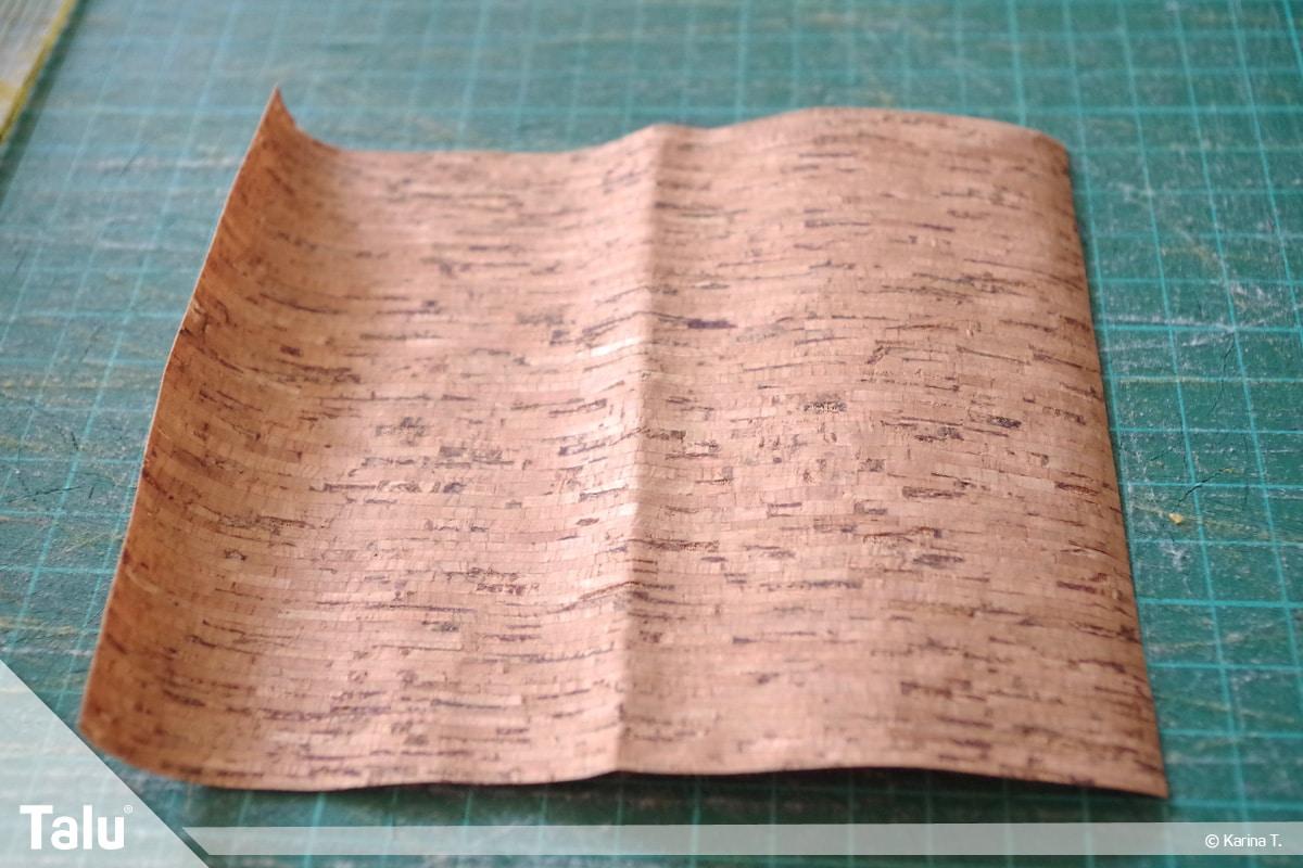 Origami Beutel nähen, Anleitung Origami-Wendetasche, Korkstoff zuschneiden
