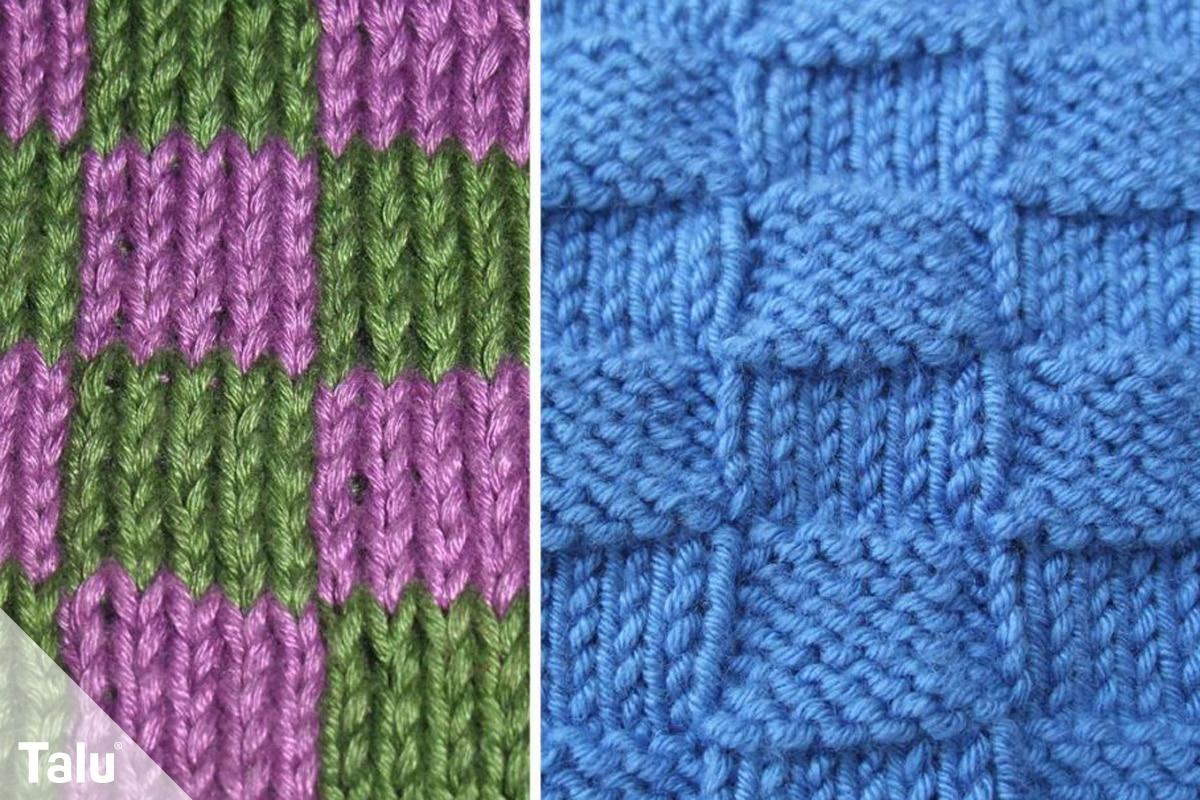 Strickmuster für Pullis, Pullover-Muster, Schachbrettmuster