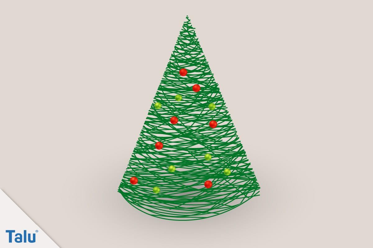 Adventsdeko basteln, Ideen für die Adventsdekoration, fertiger Mini-Weihnachtsbaum