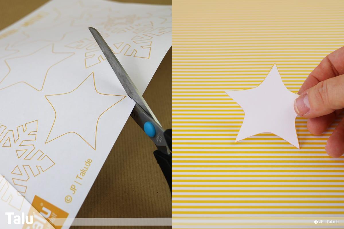 Basteln mit Papier an Weihnachten, Ideen, Vorlagen ausschneiden