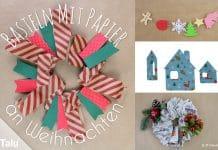 Basteln mit Papier an Weihnachten, Ideen für Weihnachtsdeko