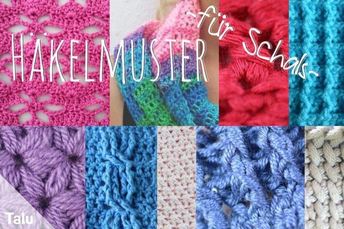 Häkelmuster für Schals, kostenlose Muster