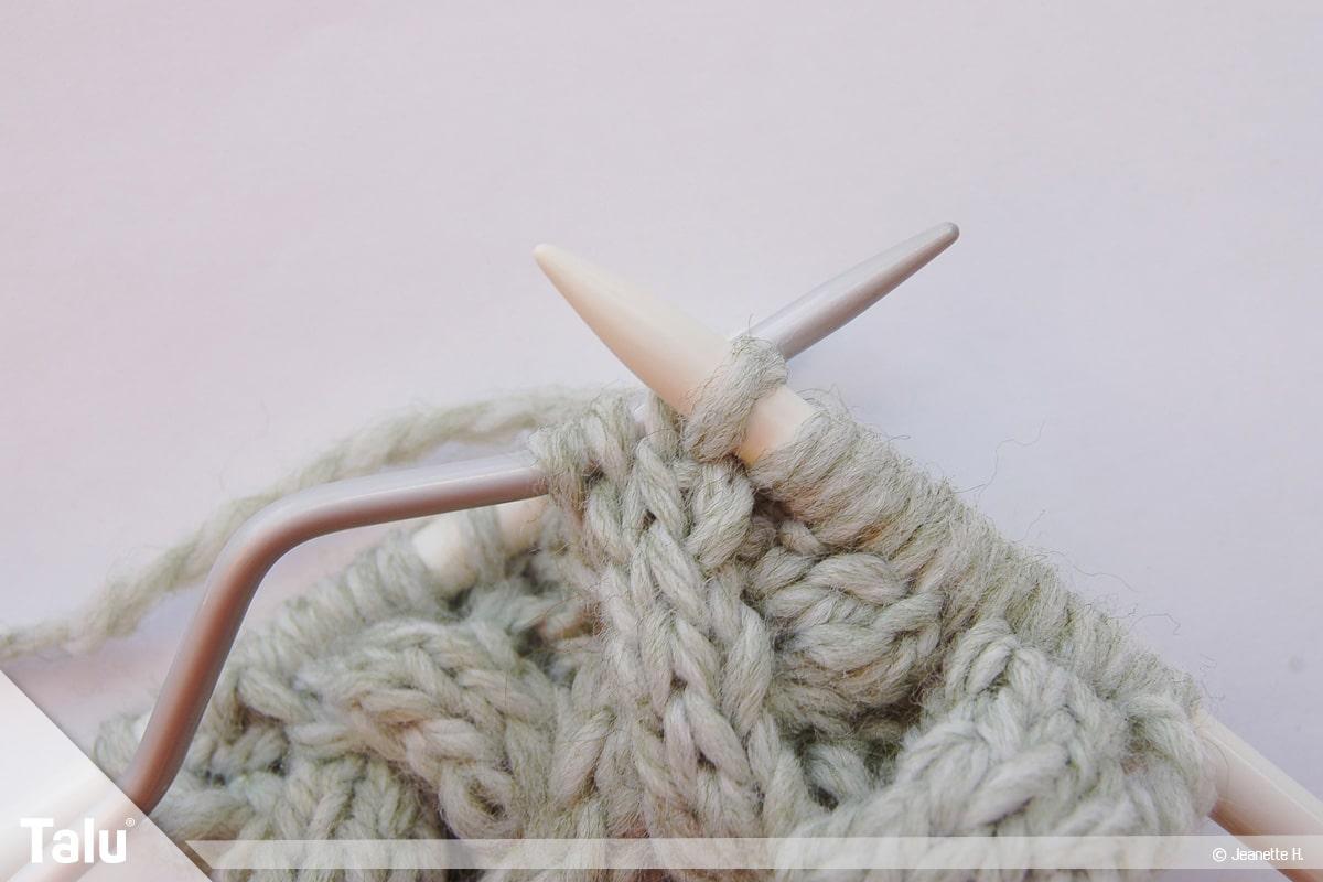 Keltische Muster stricken, Keltenmuster, Maschen verkreuzen