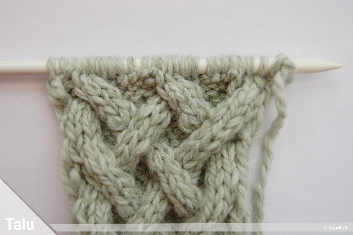 Keltische Muster stricken, Keltenmuster nach Anleitung arbeiten
