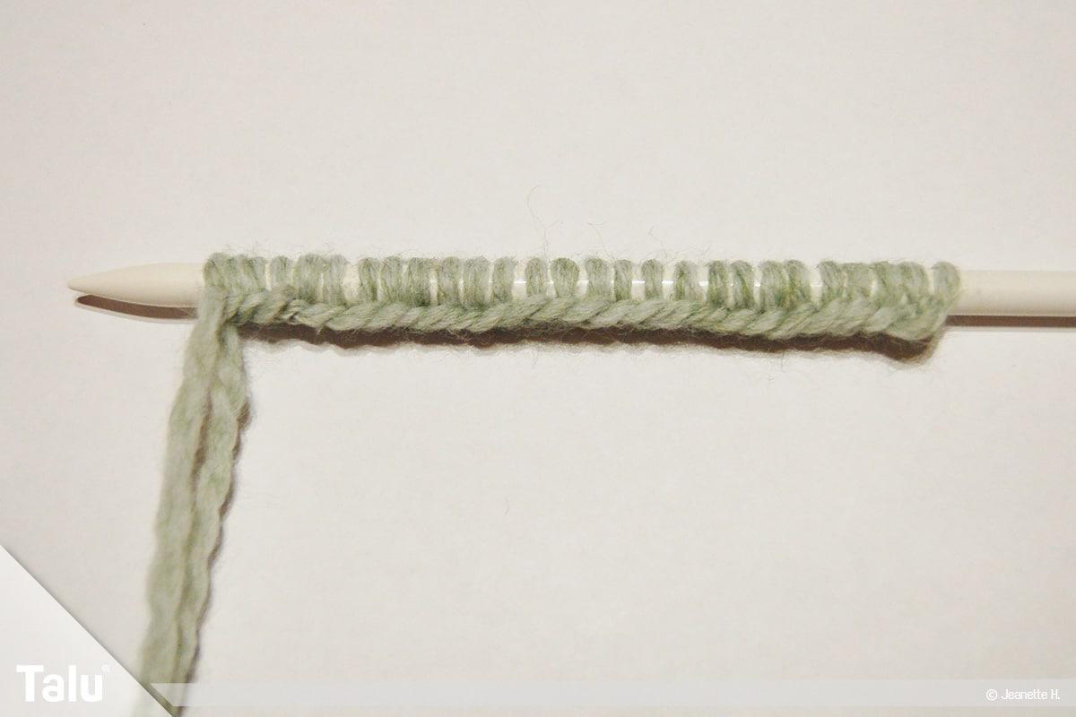 Keltische Muster stricken, Keltenmuster, Maschenanschlag