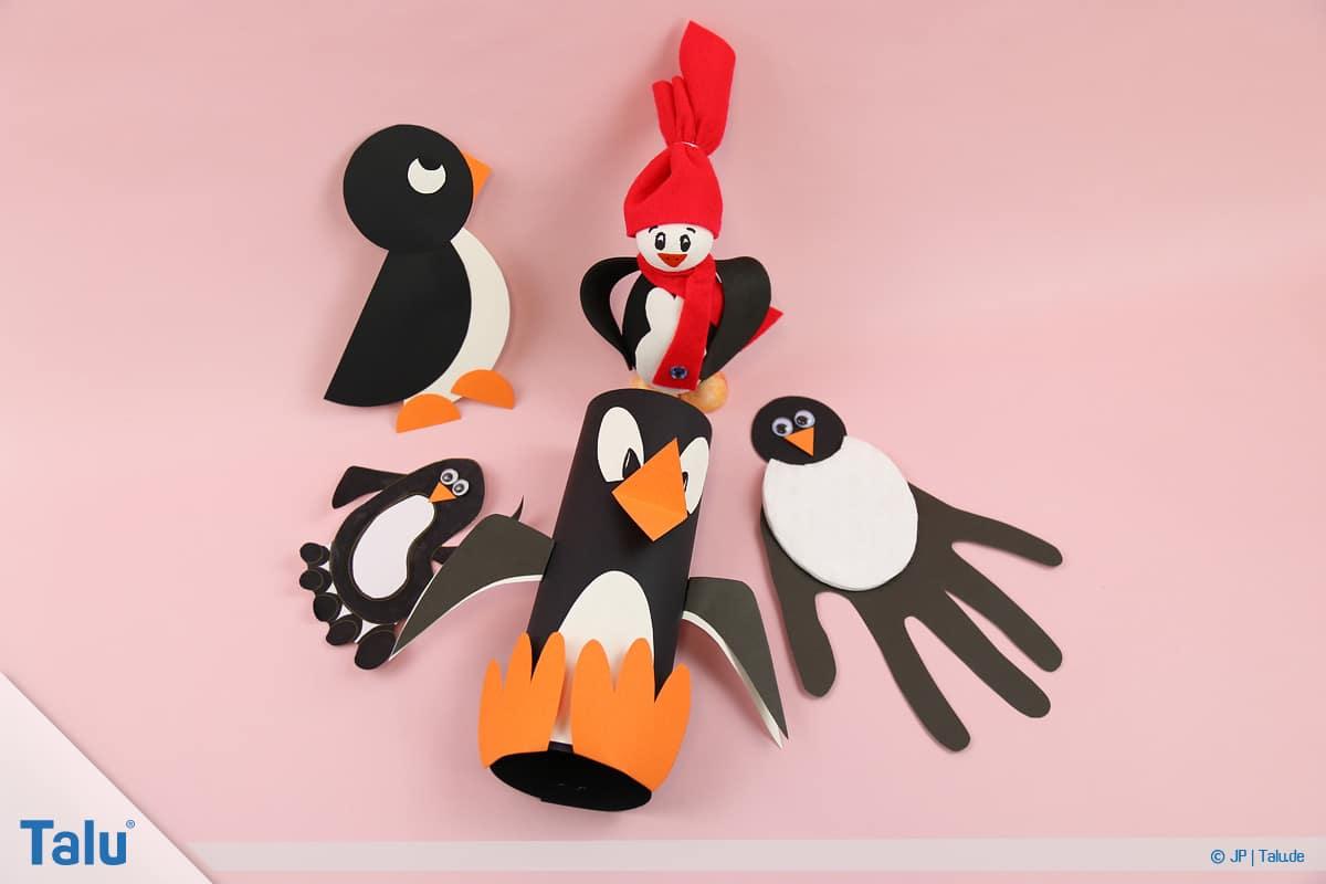Penguen tamircilik çocuk, talimatları, çeşitli penguen zanaat fikirler