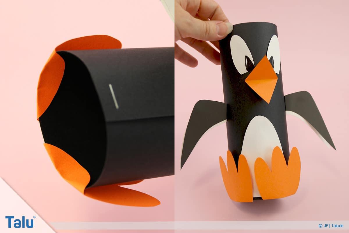 Çocuklu, talimatlar, kağıt penguen, bitmiş penguen, varyant ile penguen tamircilik 1