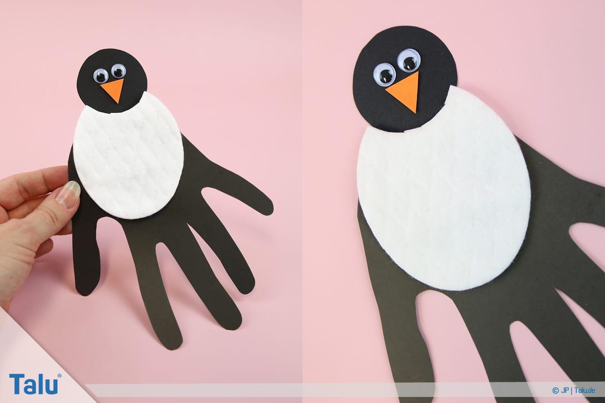 Penguen tamircilik çocuk, talimatlar, el izi penguen, bitmiş penguen, değişken 3