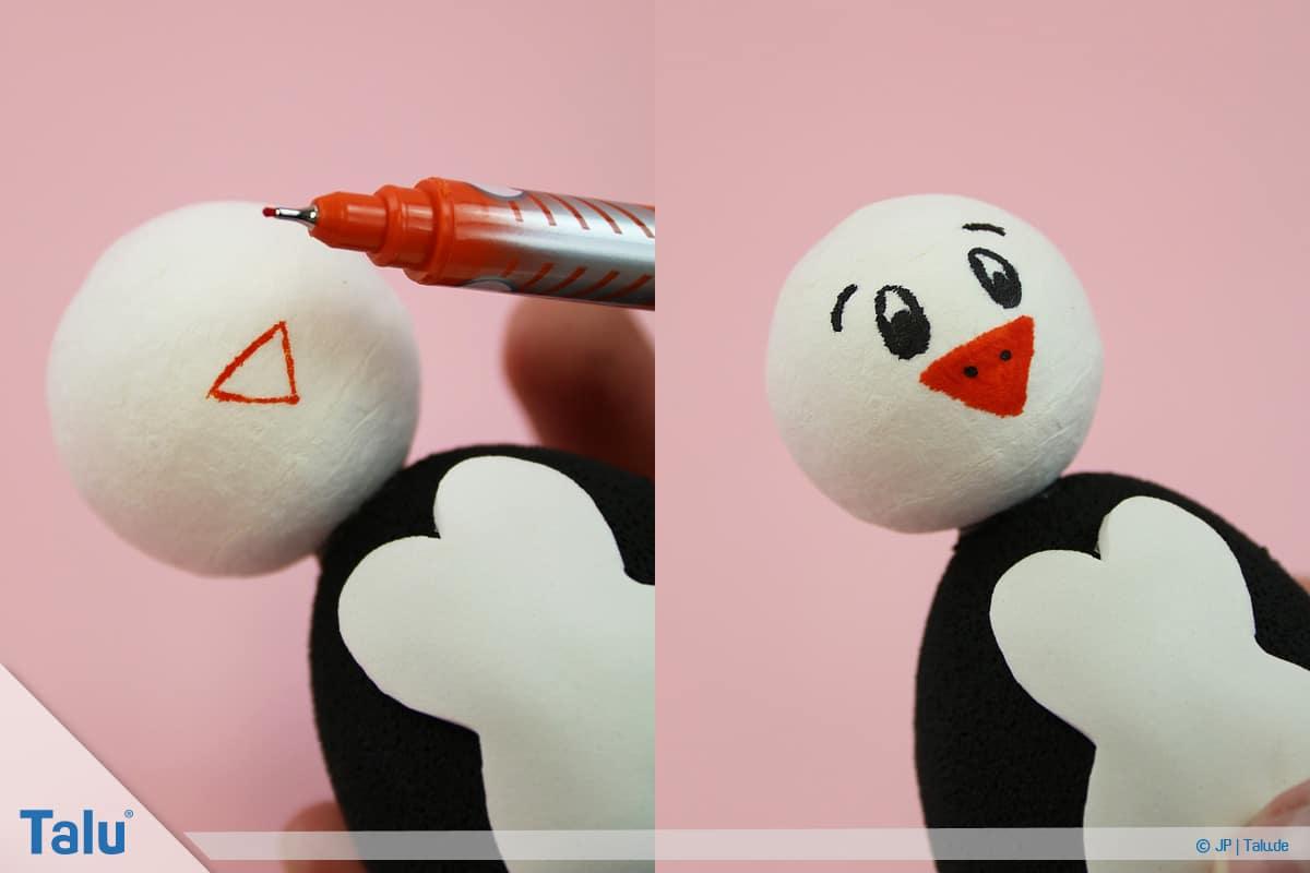 Penguen tamircilik çocuklu, talimatları, plastik Paskalya yumurtası penguen, yüz boya
