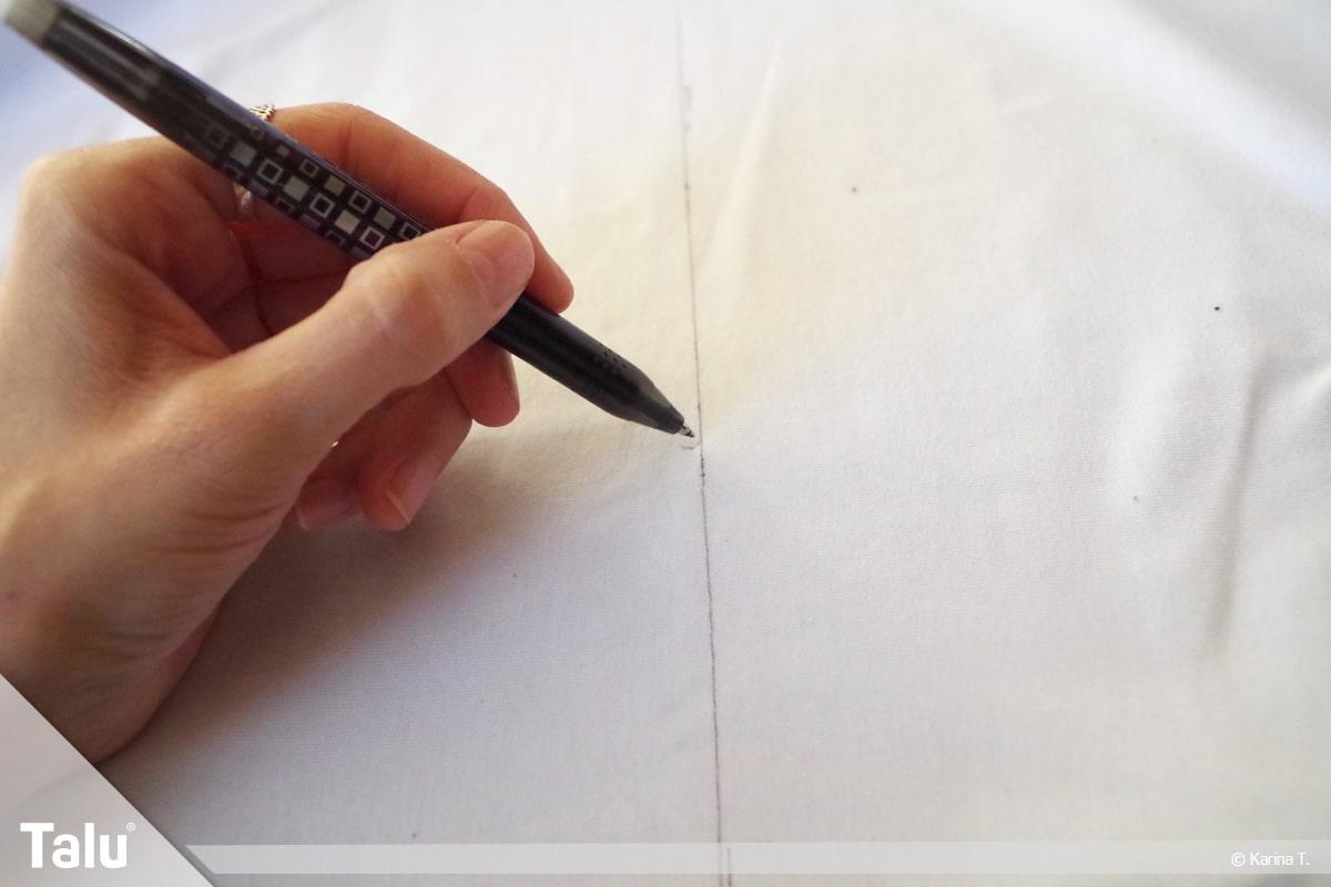 Sitzsack selber machen, Anleitung, Maße auf Stoff aufzeichnen