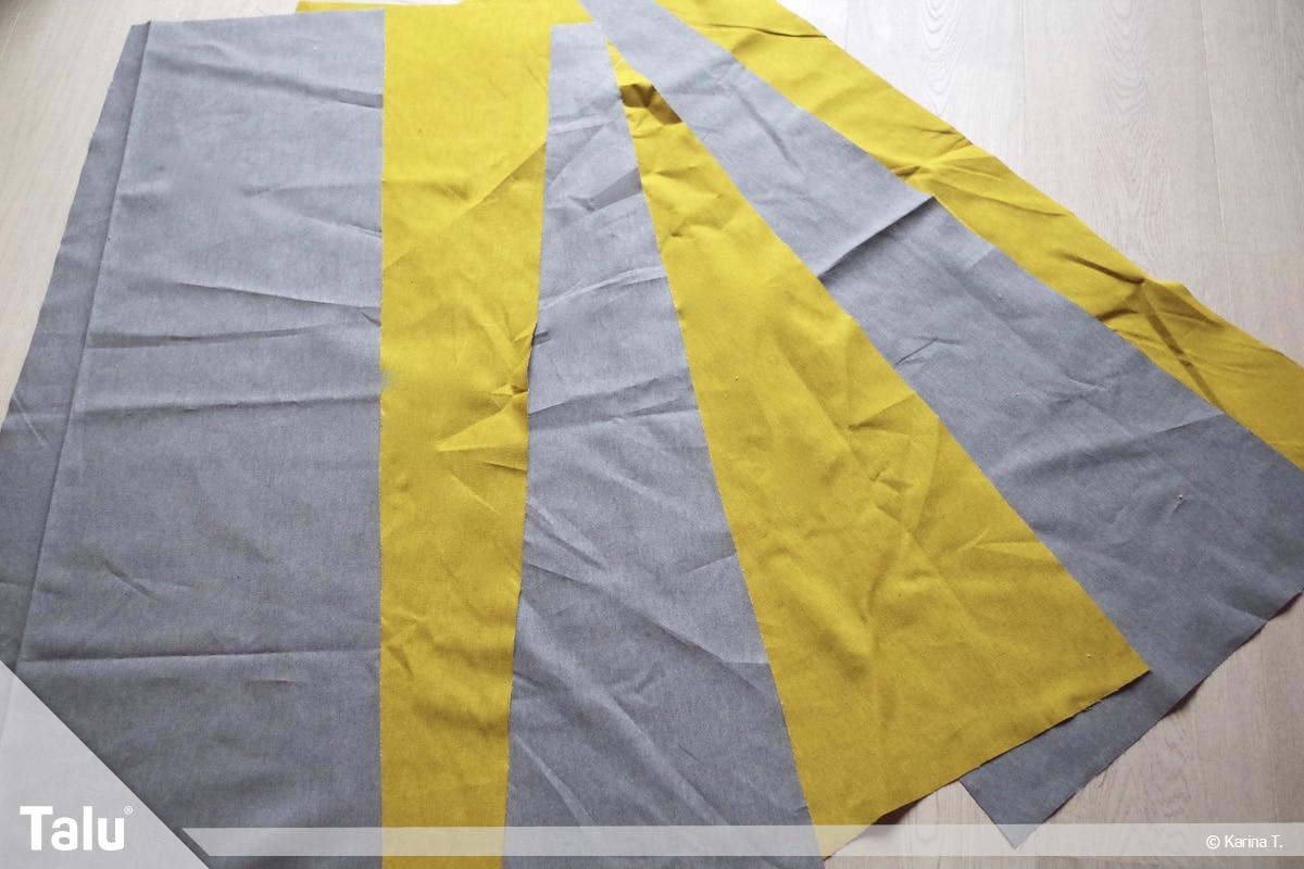Sitzsack selber machen, Anleitung, Außenstoffteile zuschneiden