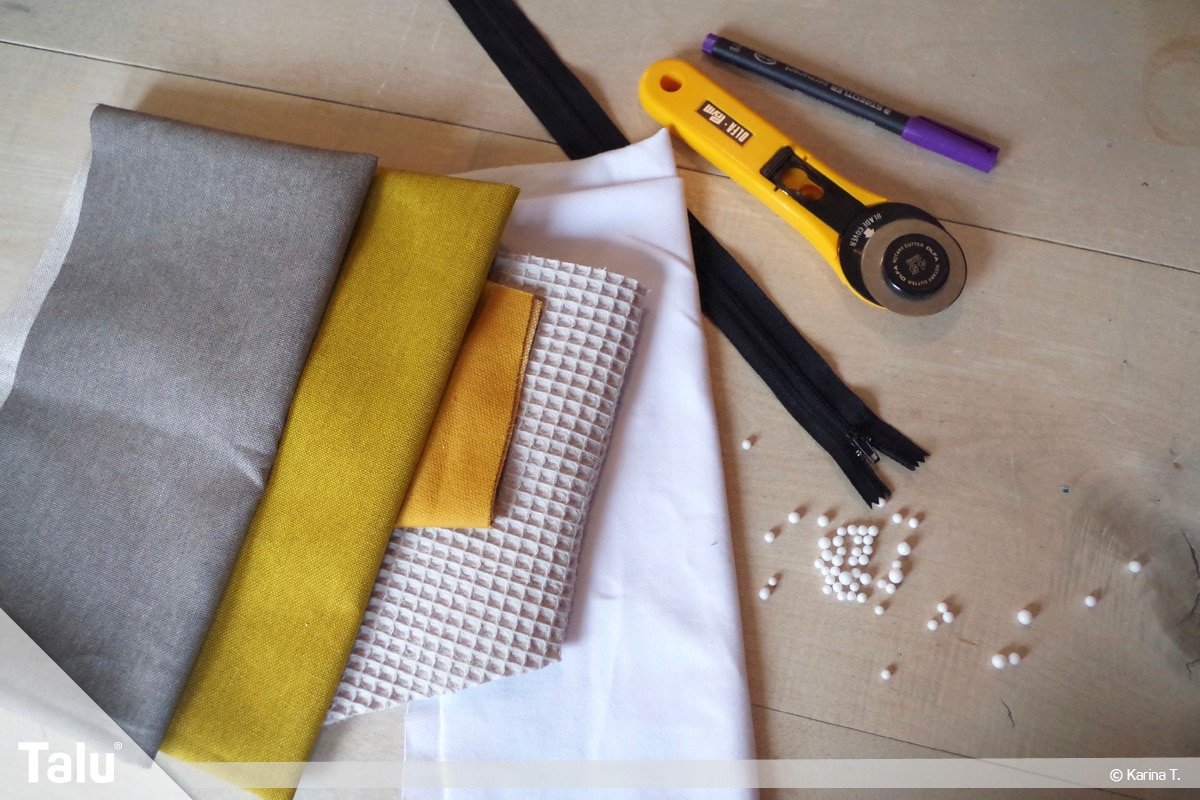 Sitzsack selber machen, Anleitung, Material für den Sitzsack