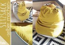 Sitzsack selber machen, kostenlose Anleitung zum Nähen