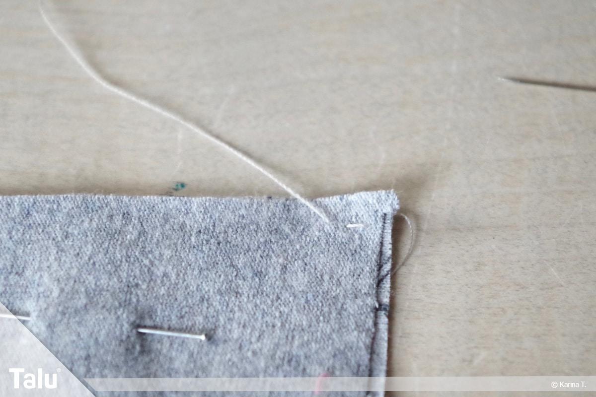 Steppstich/Rückstich, DIY-Anleitung, zurück zur letzten Einstichstelle stechen