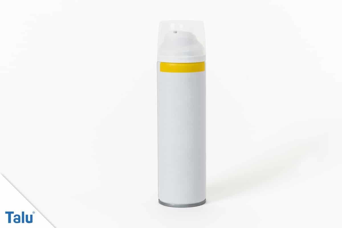 Wasserfesten Edding entfernen, Deosprayflasche