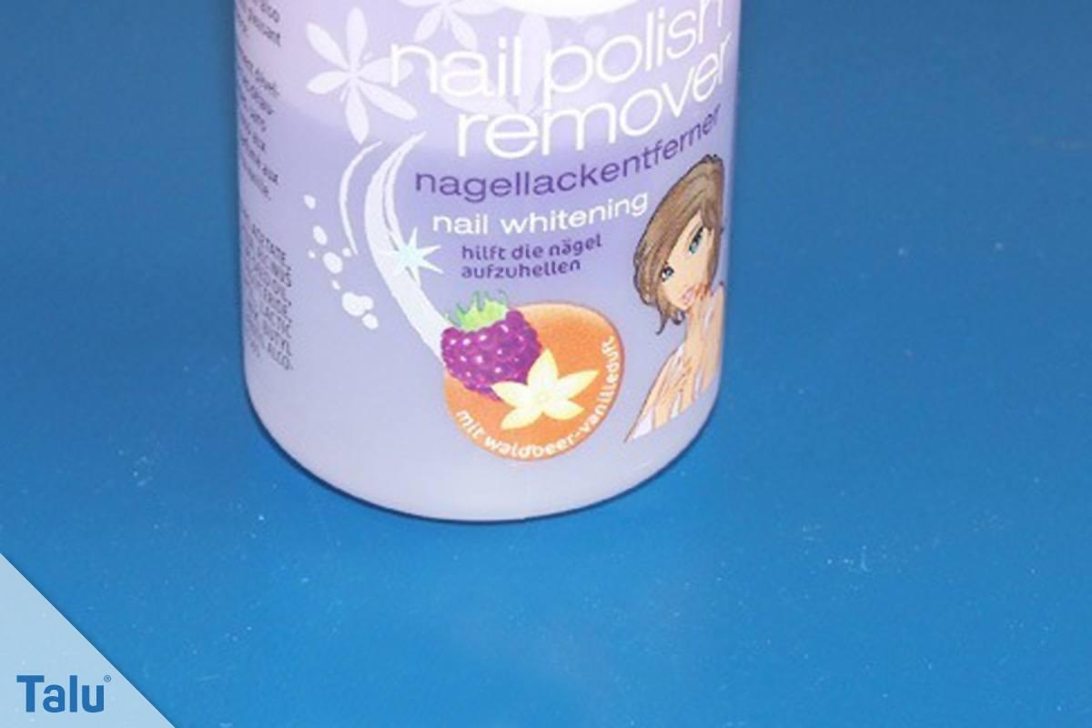 Wasserfesten Edding entfernen, Nagellack mit Aceton