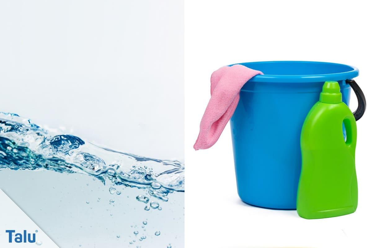 Wasserfesten Edding entfernen, Putzmaterialien