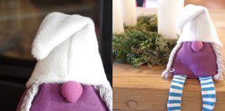 Wichtel nähen, Kostenloses Schnittmuster für Weihnachtswichtel