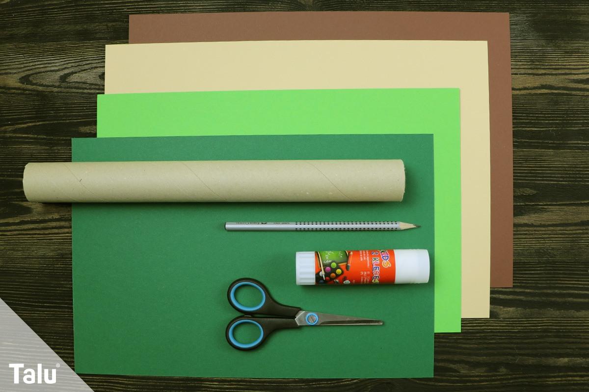 Bastelmaterial für Papierpalme