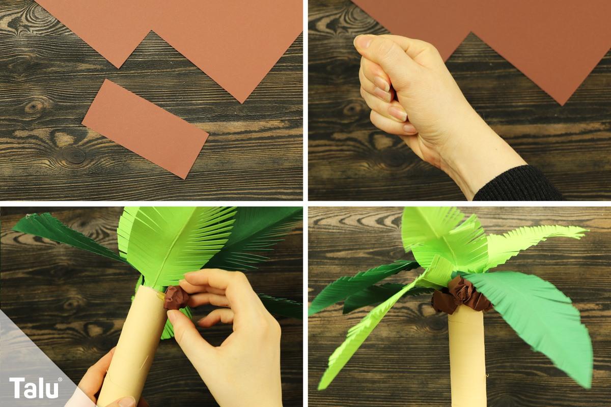 Kokosnüsse ankleben