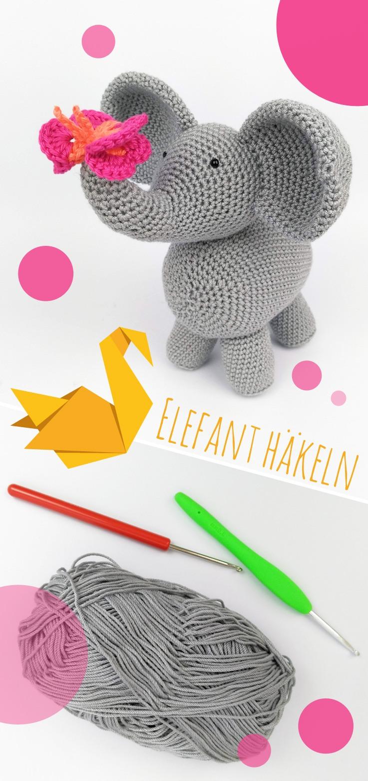 Elefant häkeln - Pin