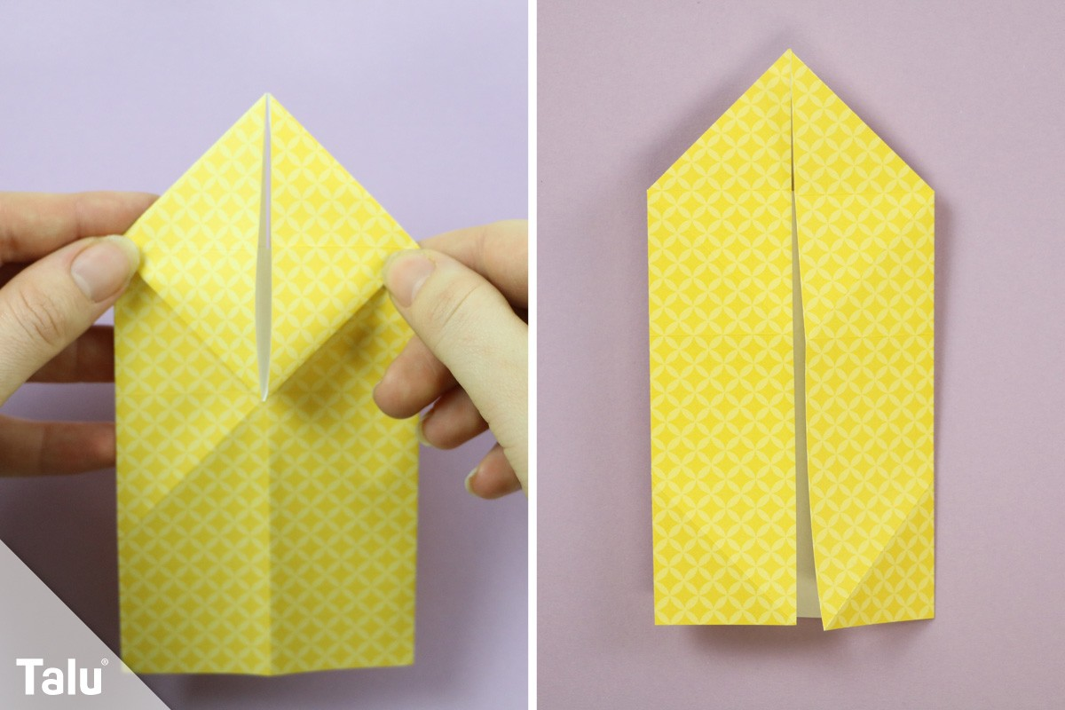 Origami Osterhase falten