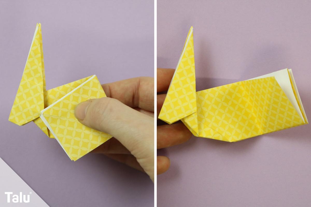Origami Hase basteln