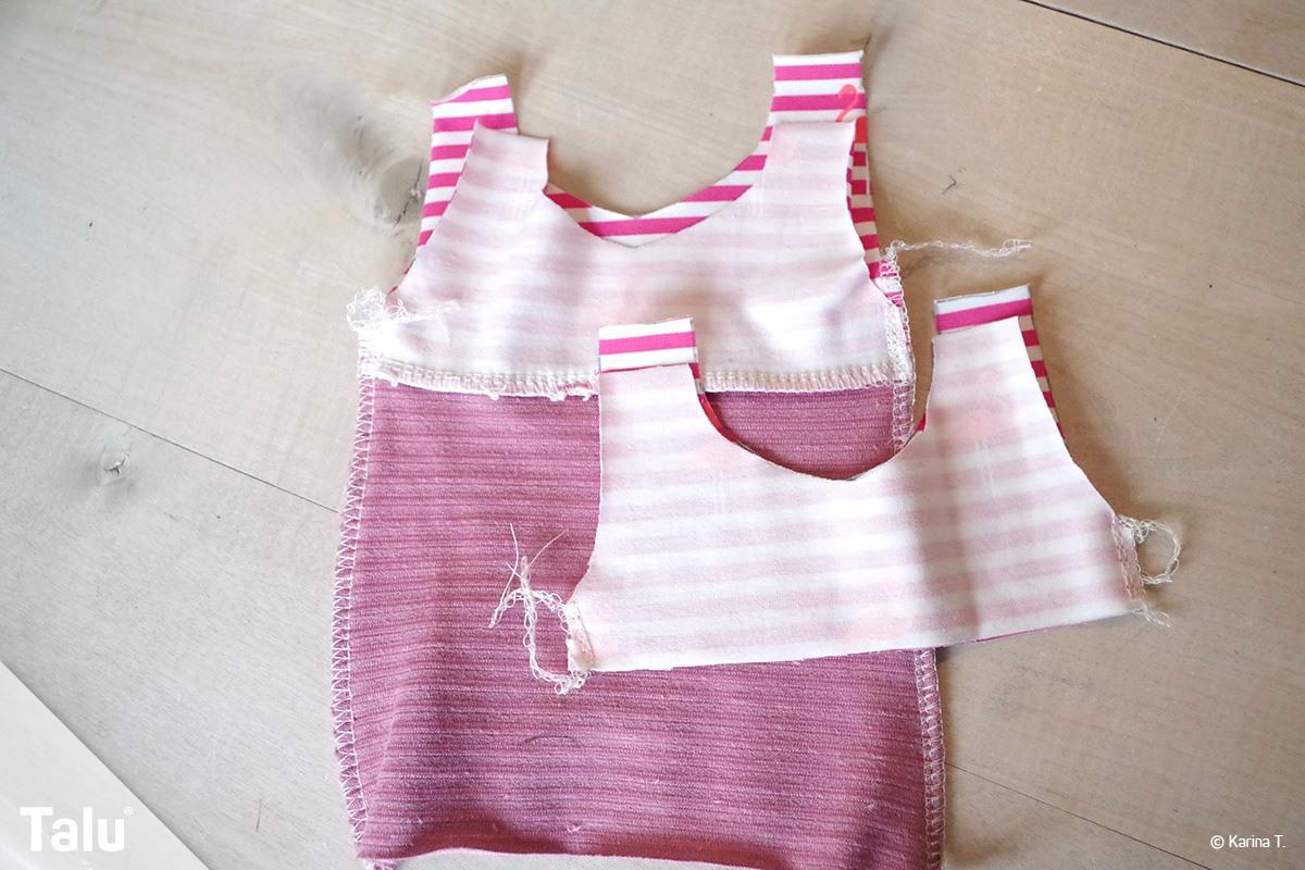 Kleid für Puppe nähen