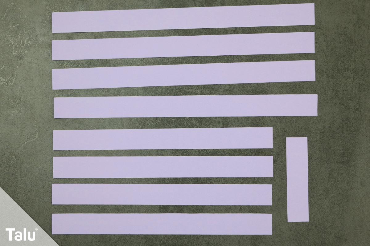 Papierstreifen zuschneiden