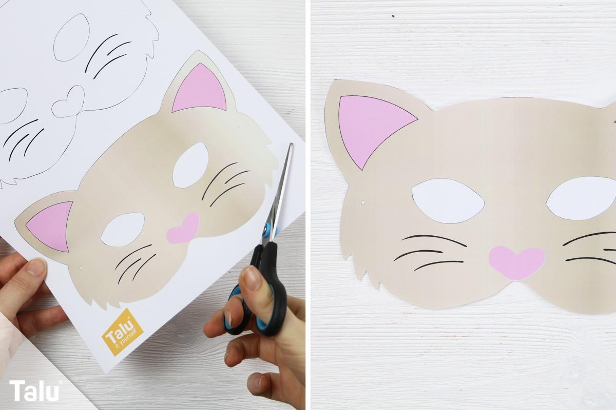 Katzenmaske basteln