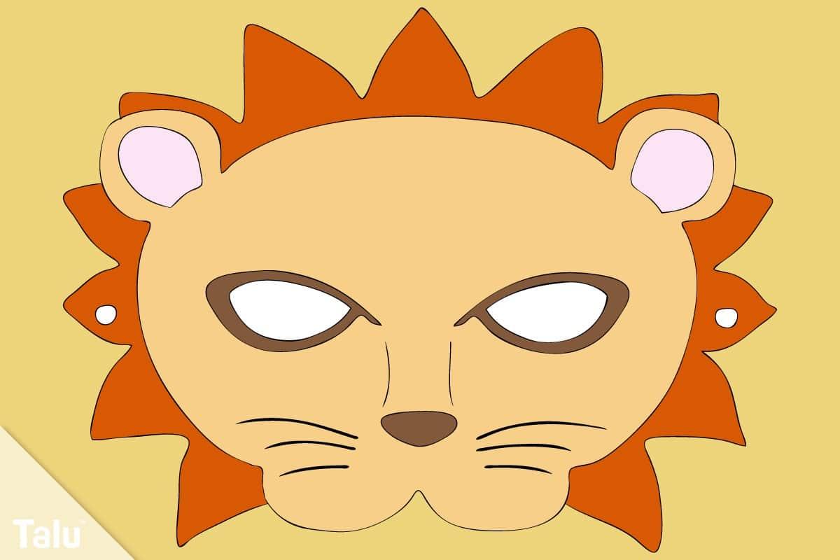 Löwenmaske basteln