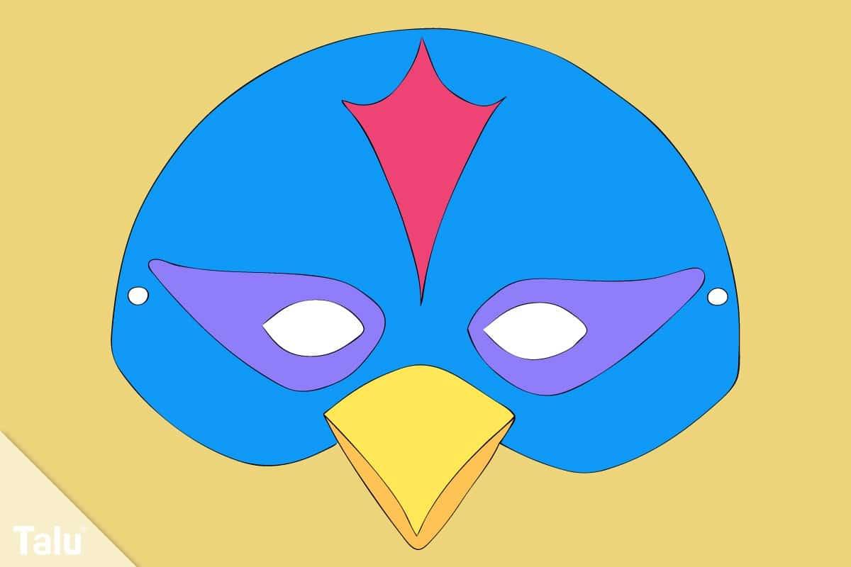 Vogelmaske basteln