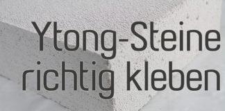 Ytong-Steine kleben